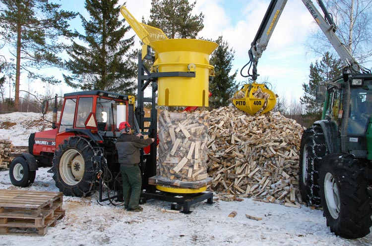 firewood packaging machine